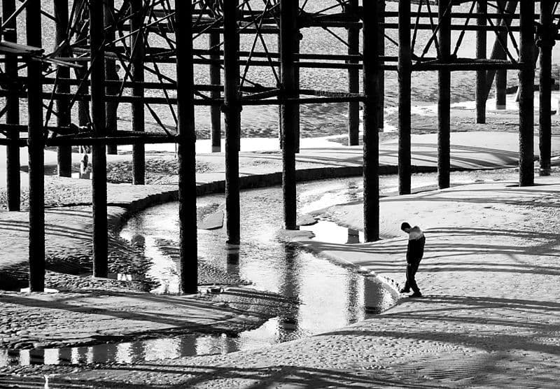 Blackpool. Under the pier