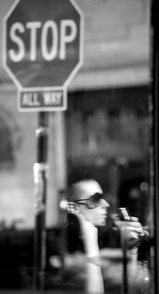 New York City. Coffee Shop Reflections.