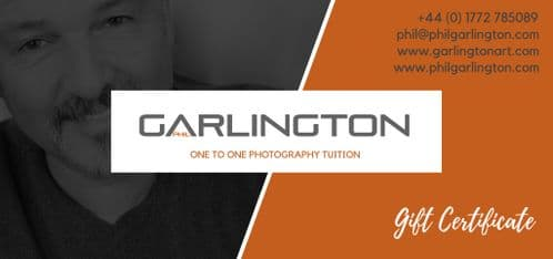 One To One Photography Tuition Gift Certificate