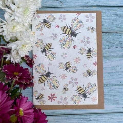 BEE FRIENDLY SEED PAPER ECO-CARD