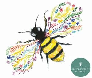 BEE FRIENDLY SIGNED PRINT