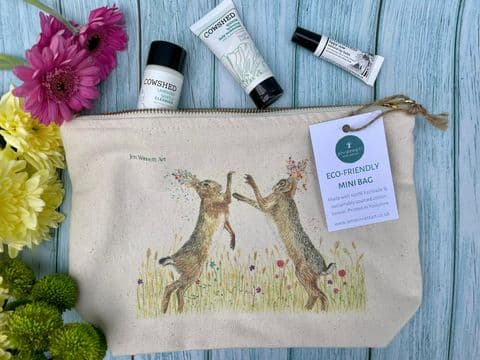 BOXING HARES LINED  MINI BAG