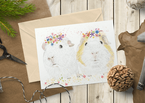 BUBBLE AND SQUEAK GUINEA PIGS ECO-CARD