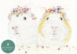 BUBBLE AND SQUEAK THE GUINEA PIGS - SIGNED PRINT