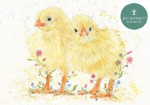 CONNIE AND CLYDE THE CHICKS - SIGNED PRINT