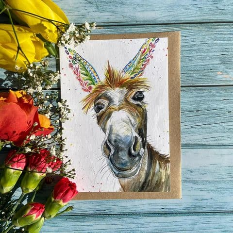 DYLAN THE DONKEY ECO CARD