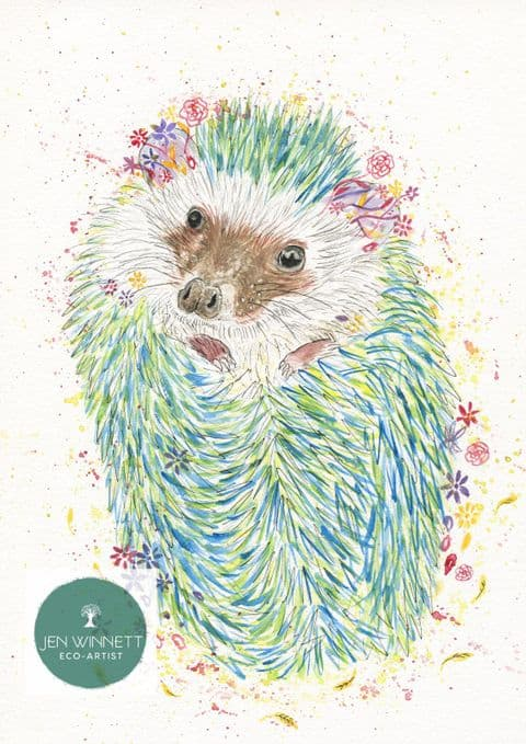HECTOR THE HEDGEHOG - SIGNED PRINT