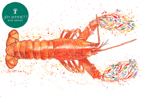 LARRY THE LOBSTER - SIGNED PRINT