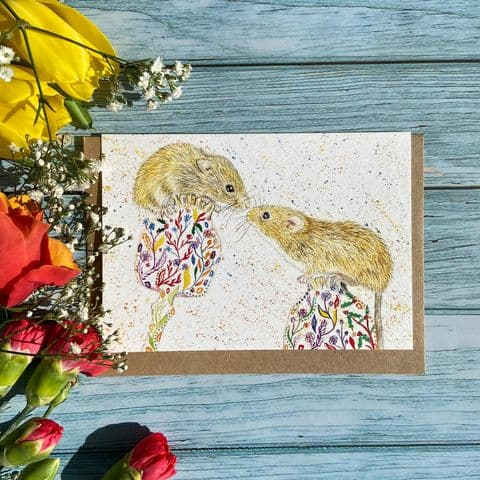 MARSHMELLOW AND MUFFIN THE MICE ECO-CARD