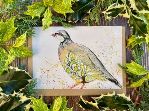 PEAR TREE IN A PARTRIDGE ECO-CARD