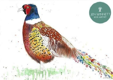 PHIL THE PHEASANT - SIGNED PRINT