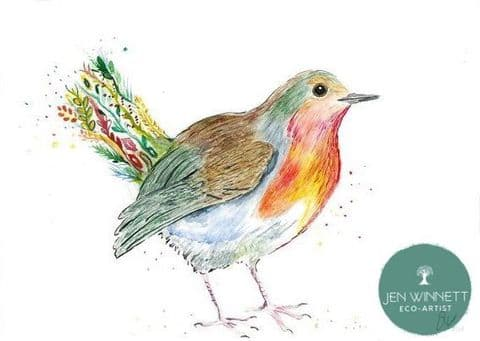 ROBBIE THE ROBIN - SIGNED PRINT