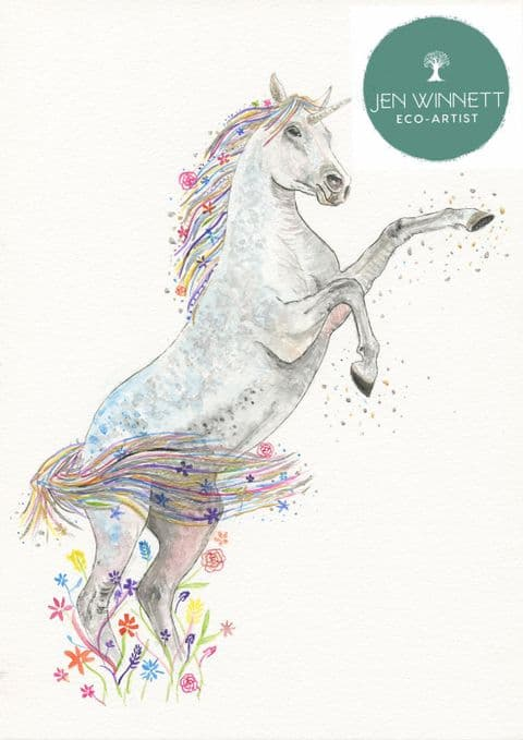 UNICORN - SIGNED PRINT - 'THOSE WHO DON'T BELIEVE IN MAGIC WILL NEVER FIND IT'
