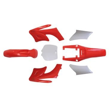 Red Plastic bodies for MAF E800 electric Dirt Bike