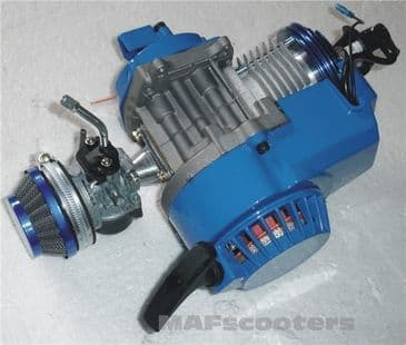 Blue Super sport mini moto /petrol scooter Quad Dirt Bike Engine complete 50cc