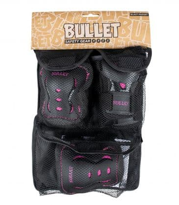 Bullet Triple Padset Black/Pink 7-9Yrs