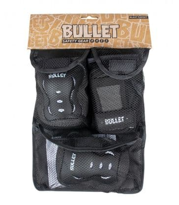 Bullet Triple Padset Black/White 3-6Yrs
