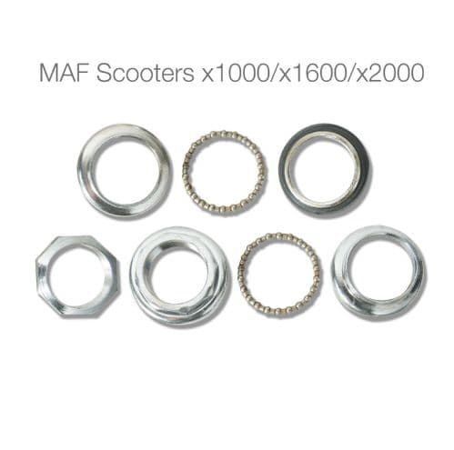 Head / neck bearing set for x1000 x1600 x2000 electric scooter