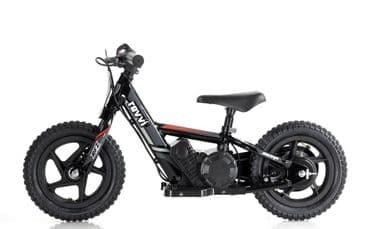 "Revvi 12"" Lithium Battery Balance Bike Black"