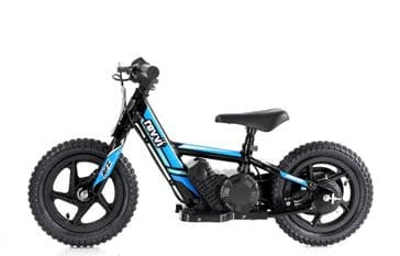 "Revvi 12"" Lithium Battery Balance Bike Blue"