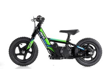 "Revvi 12"" Lithium Battery Balance Bike Green"