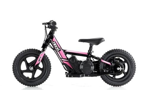 "Revvi 12"" Lithium Battery Balance Bike Pink"