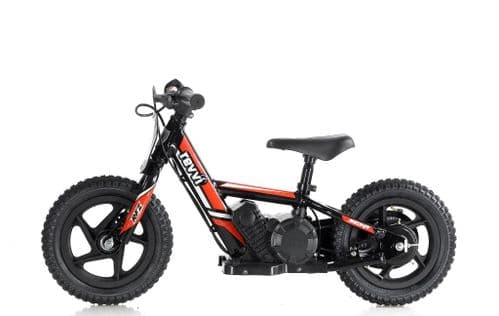 "Revvi 12"" Lithium Battery Balance Bike Red"