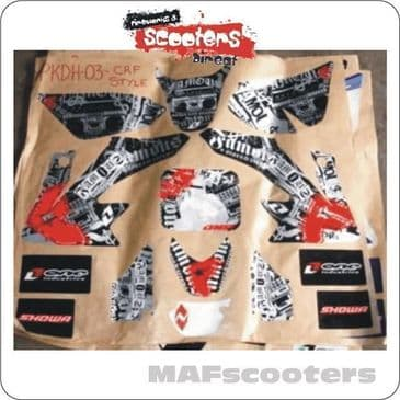 Showa 3M Graphics/Sticker Pack Pit/Dirt/MX bike Part03 (Famous)