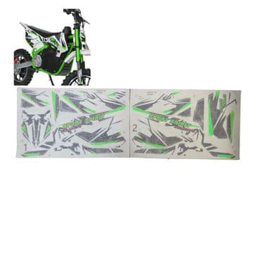 Sport spirit graphics kit Electric and petrol dirt bikes GREEN