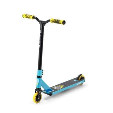 Tantrum V8 Blue & Yellow Stunt Scooter