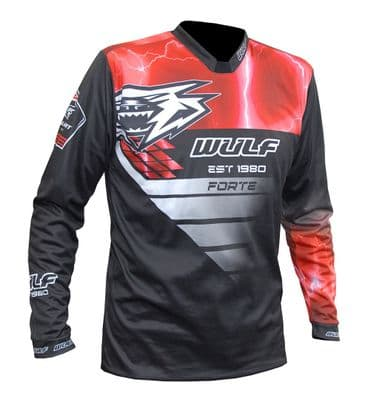 Wulfsport Adult Forte Race Suit Top - Red