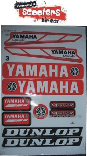 Yamaha Graphics sticker pack pit dirt quad bike etc 33x22cm