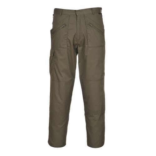 Action Trousers Olive Green