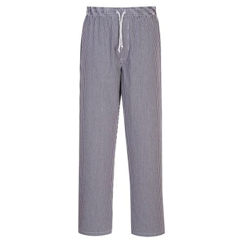 Bromley Chefs Trousers Check Tall