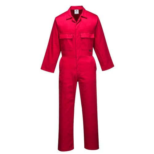 Euro Work Coverall Red