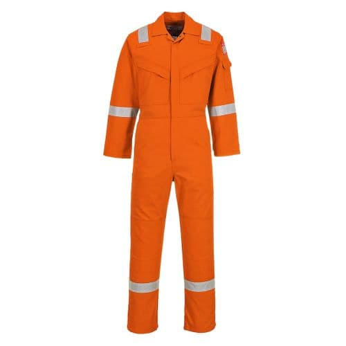 Flame Resistant Anti-Static Coverall 350g Orange