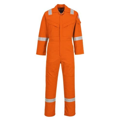 Flame Resistant Anti-Static Coverall 350g Orange Tall