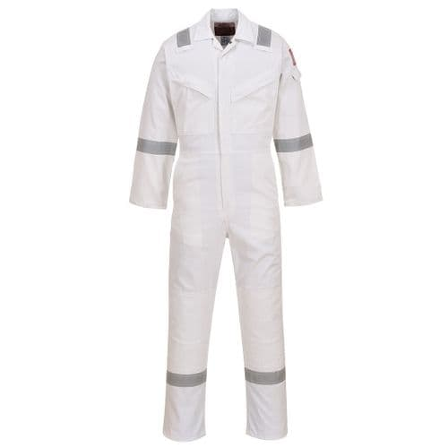 Flame Resistant Anti-Static Coverall 350g White