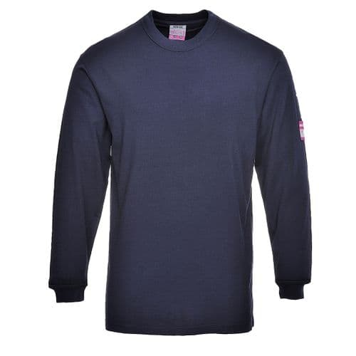 Flame Resistant Anti-Static Long Sleeve T-Shirt Navy