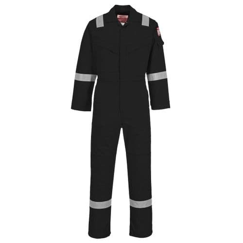 Flame Resistant Light Weight Anti-Static Coverall 280g Black