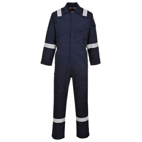 Flame Resistant Light Weight Anti-Static Coverall 280g Navy Tall