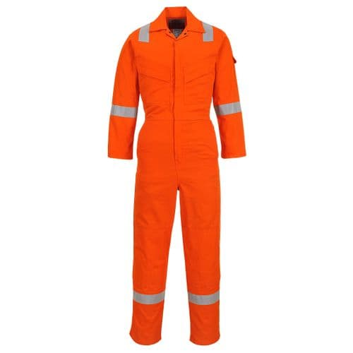 Flame Resistant Light Weight Anti-Static Coverall 280g Orange
