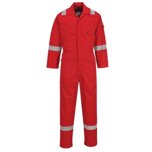 Flame Resistant Light Weight Anti-Static Coverall 280g Red