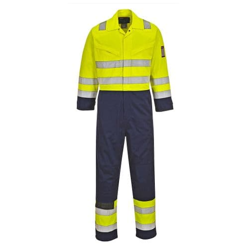 Hi-Vis Modaflame Coverall Yellow/Navy Tall