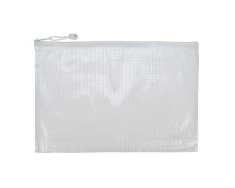A4 Plastic Zipped Wallet / Zip Bag Pouch - Pack of 5