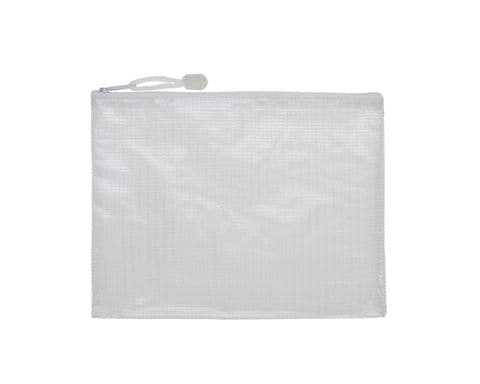 A5 Plastic Zipped Wallet / Zip Bag Pouch - Pack of 5