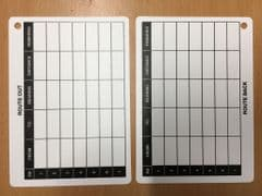 A6 Battle Slate Card - Route Out / Route Back