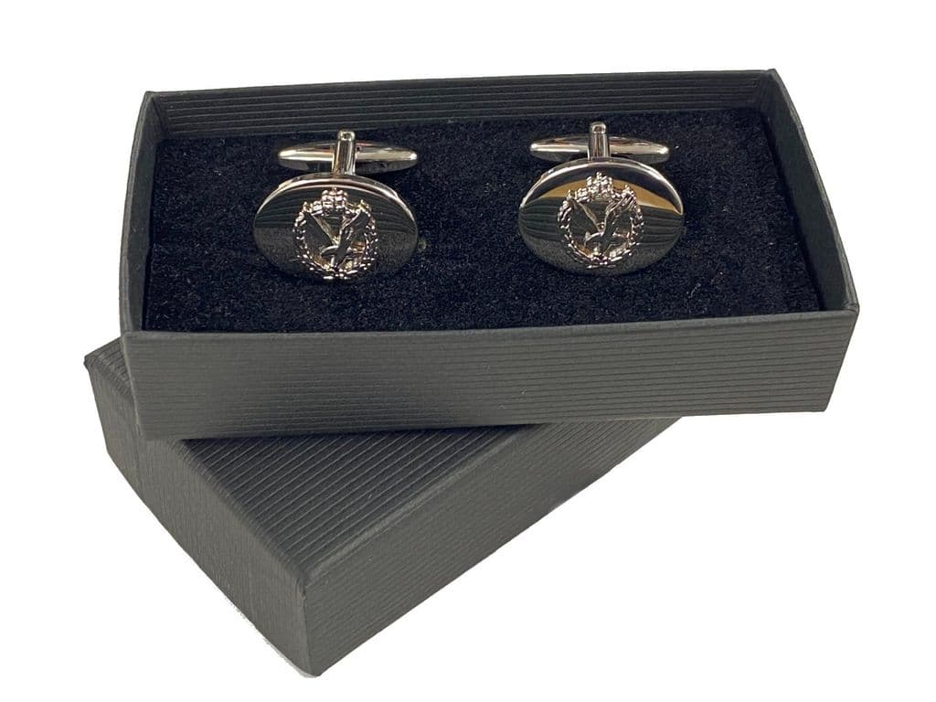 Army Air Corps Chrome Plated Cufflinks