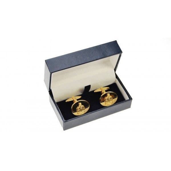 King's Own Scottish Borderers Gold Plated Cufflinks