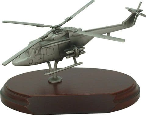 Lynx Helicopter Pewter Statuette